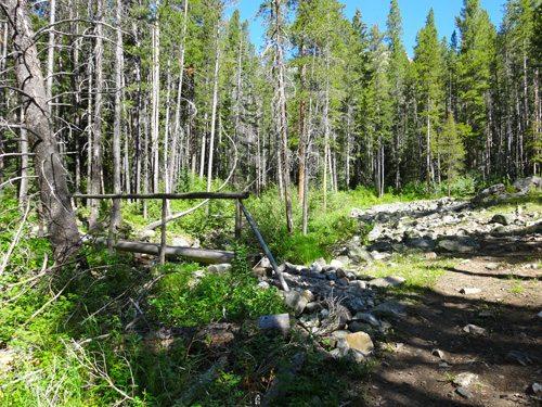 The first crossing of Deer Creek