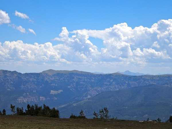 The Gallatin Range As Seen From Table Mountain