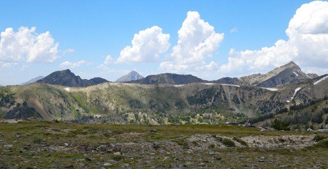 Lone Peak and Wilson Peak to the West
