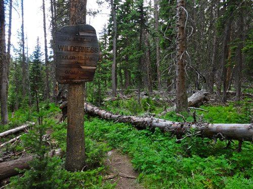 Entering the Lee Metcalf Wilderness