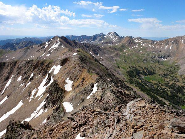Our Ascent Route via the South Ridge of Imp Peak