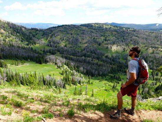 The Ridge. Can you spot the trail far below?