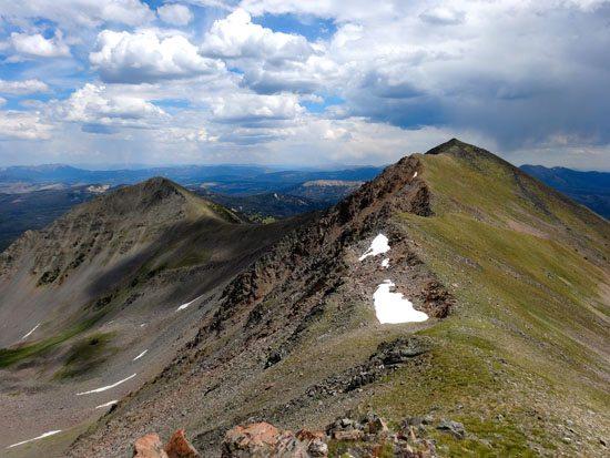 Looking at Sentinel Ridge from Peak 10930