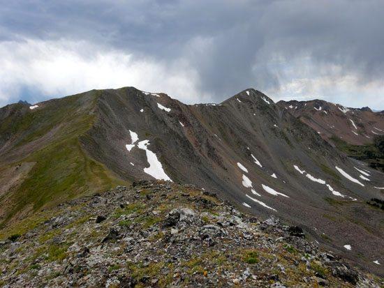 Looks like some nice steep ski lines on the north face
