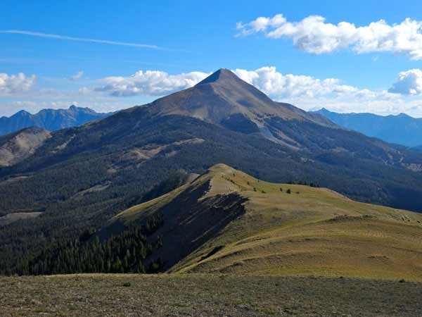 Lone Mountain and the Spanish Peaks