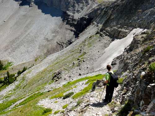 Steep Terrain for a trail