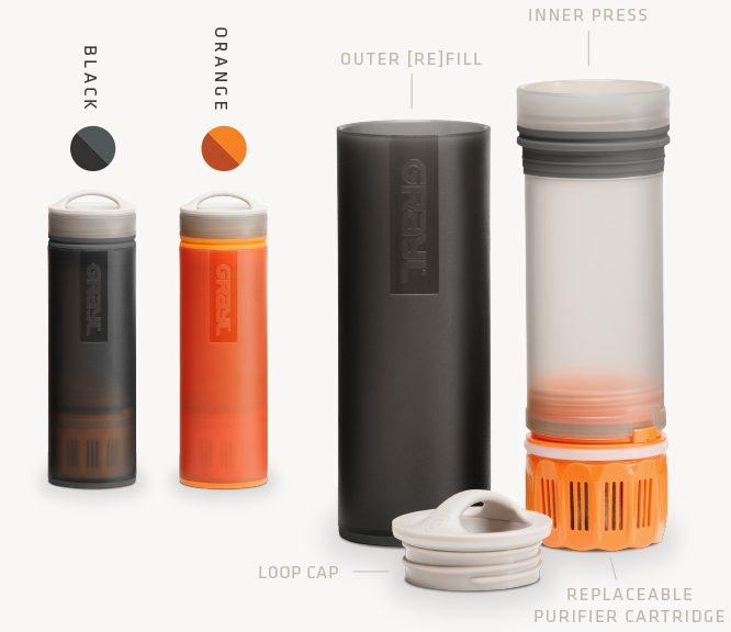 Grayl Ultralight Purifier [+Filter] Water Bottle