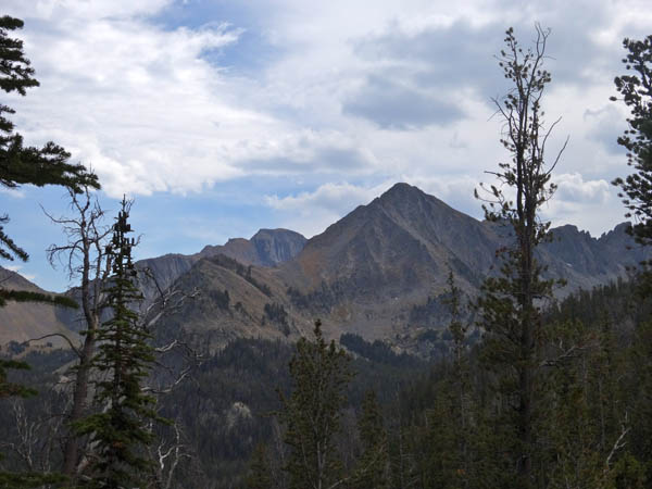 Koch Peak in distance and the start of Sawtooth Ridge