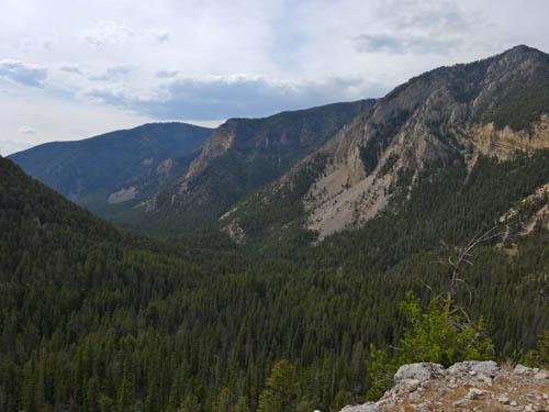 Looking west down Indian Creek