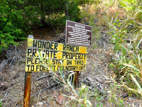 Wonder Ranch Property Easement