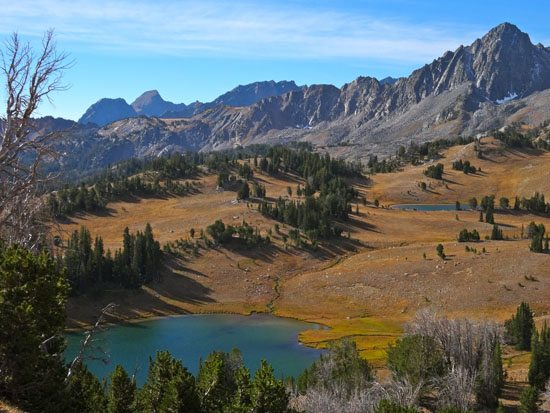 Expedition Lake - Route Goes Over Distant Ridge
