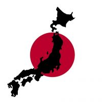Japan Flag/Country Outline | Pixabay Image