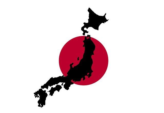 Japan Flag/Country Outline | Pixabay Image