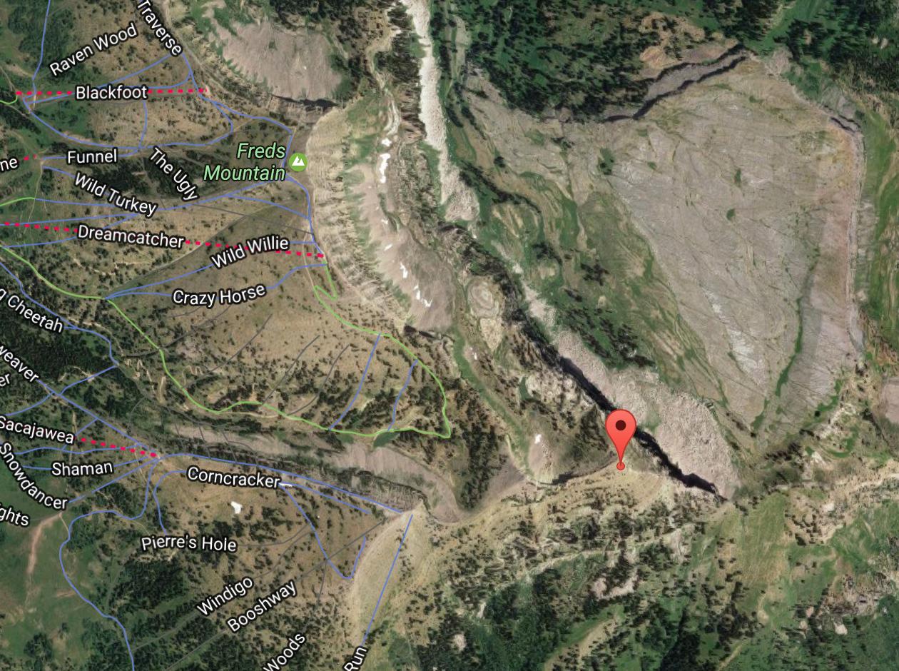 43.778366, -110.917213 via Google Maps Screenshot