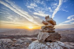 Mountain Cairn At Sunset | Pixabay Image