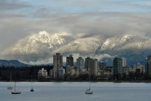 Vancouver, BC with North Shore Mountains in background   Pixabay Image