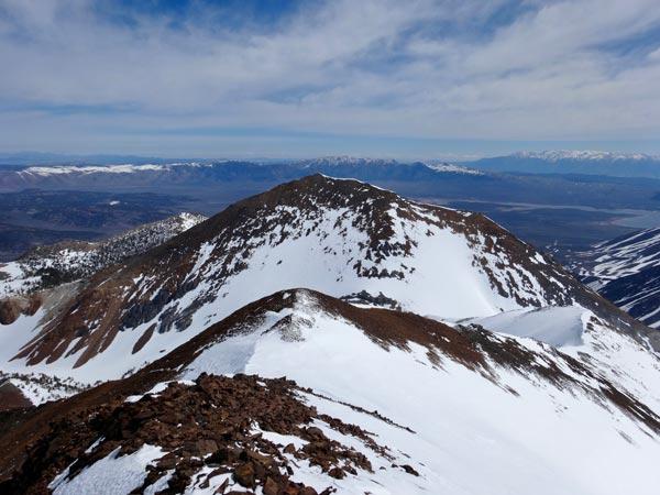 Looking Back down Bloody Mountain NE Ridge