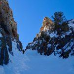 TR: Terminal cancer couloir, ruby mountains, nevada
