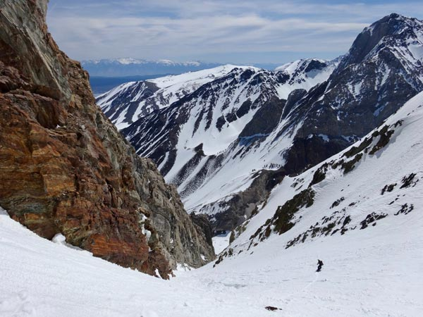 pinner couloir, eastern sierra, california