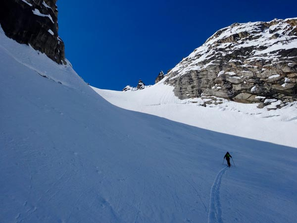 Climbing Toward Silver Star Glacier