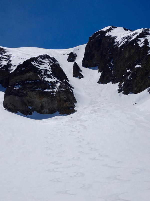 Bloody Couloir from Apron