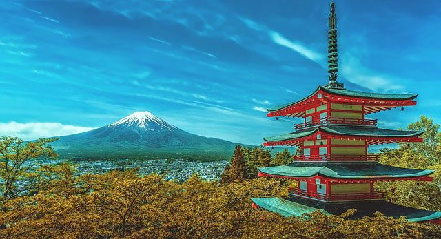 Pagoda In Front Of Mount Fuji | Pixabay Image