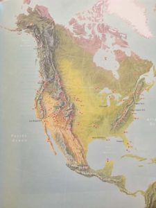 Map Of Geological Features In Aerial Geology by Mary Caperton Morton